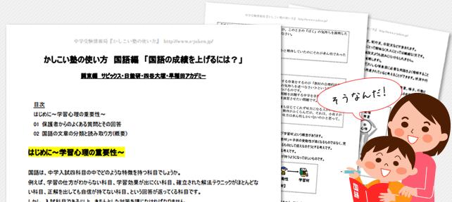 会員限定レポート 塾別国語レポートイメージ